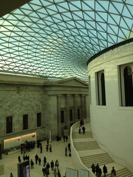View across the courtyard at The British Museum.