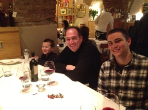 My boys at Il Gabrielo.