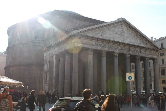 The 2000-year-old Pantheon-- really stunning in its simplicity.