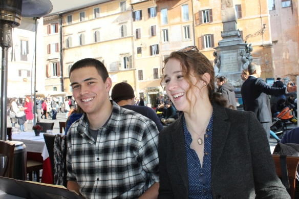 Good times in the Piazza della Rotunda, across from the Pantheon.