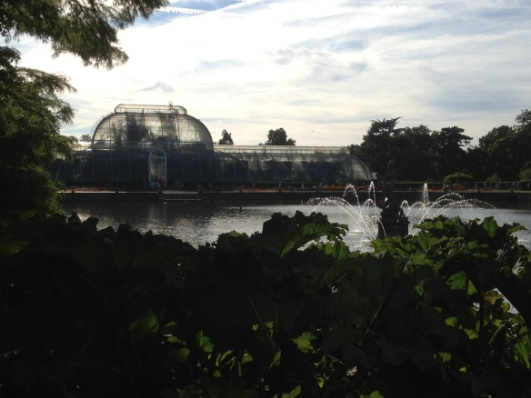 The Palm House at Kew Gardens-- definitely not a place to throw rocks.