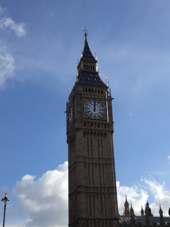 Just happened to be running by Big Ben when the clock struck 12!  That's a lot of bongs...