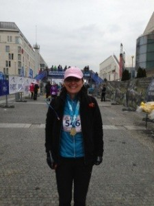 Cold, tired, slightly miserable... but I did it!