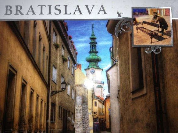 This is the Bratislava of postcards...