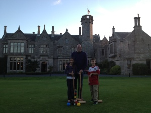 Croquet on the lawn at the Roxburghe Hotel.